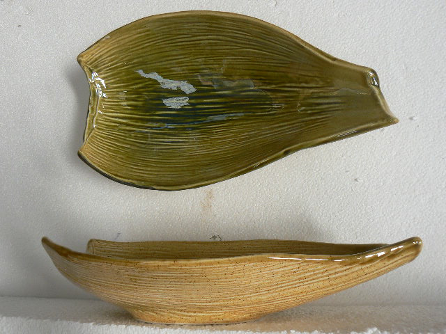 Nikau bowl, ceramic, NZ art collectble