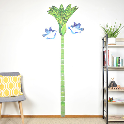 Nikau Palm Growth Chart wall decal