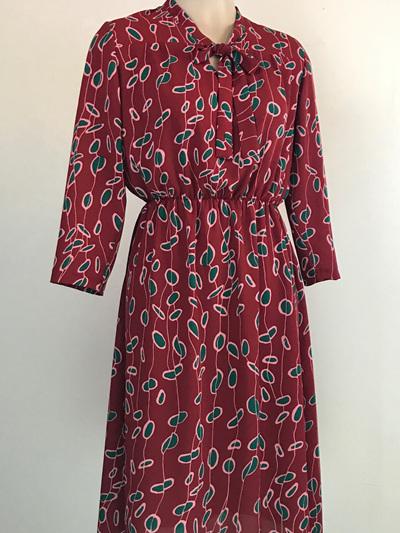 Nina dress, red pods