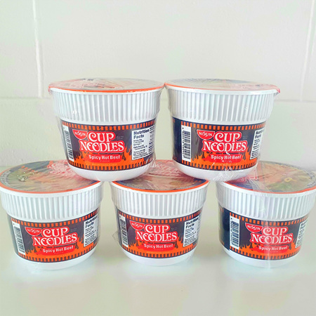 NISSIN CUP NOODLES SPICY HOT BEEF 45g