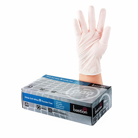 Nitrile Soft White Gloves