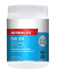 NL Fish Oil 1500mg +Vit. D 300caps