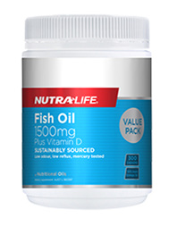 NL Fish Oil 1500mg +Vit. D 180caps
