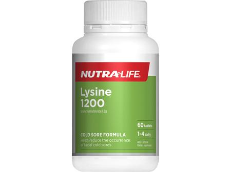 NL Lysine 1200mg 60tabs