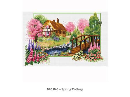 No Count Cross Stitch Spring Cottage 57 x 42cm