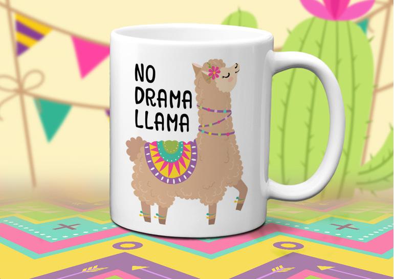 No Drama Llama Mug