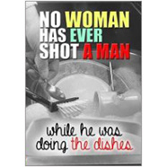 No Woman Fridge Magnet