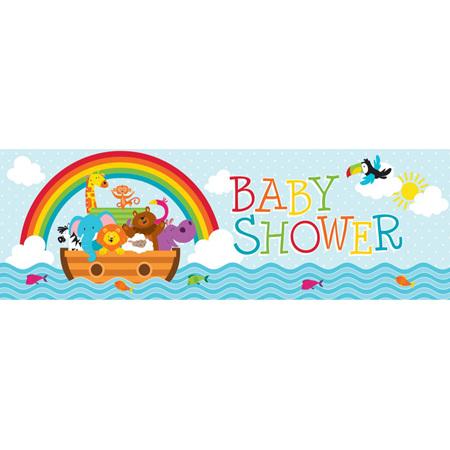 Noah's ark giant baby banner