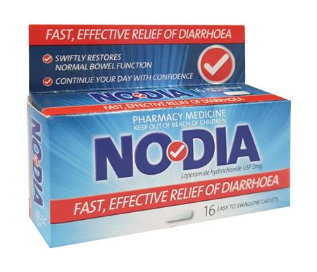 Nodia loperamide 2mg 16 caplets