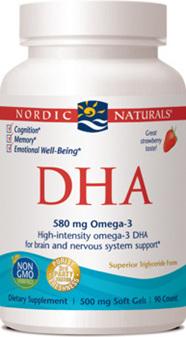 Nordic Naturals DHA strawberry 90 capsules