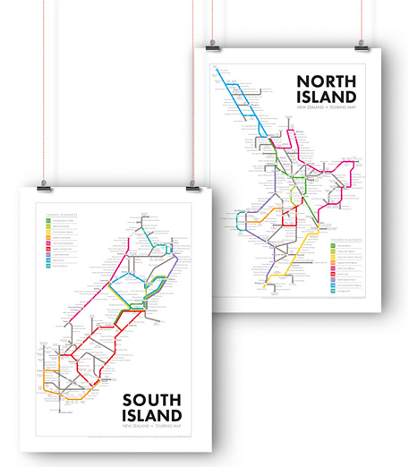 New Zealand Touring Maps - North and South Island Bundle