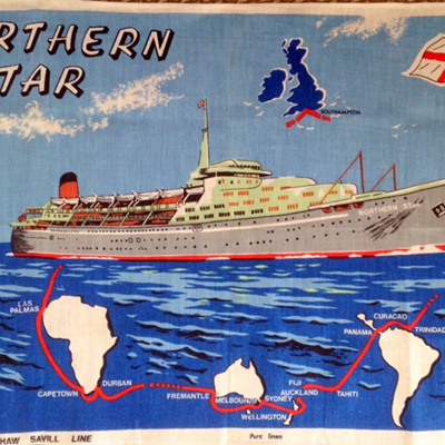 Northern Star Souvenir Tea Towel