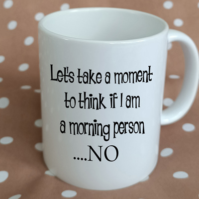 Morning Person Funny Mug