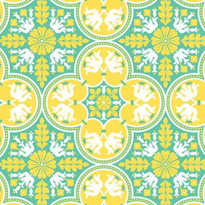 Notting Hill - Historic Tile - Canary