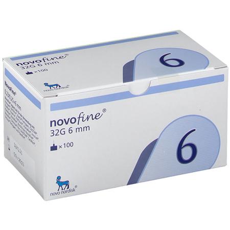 NOVOFINE NEEDL 32GM X 6MM 100