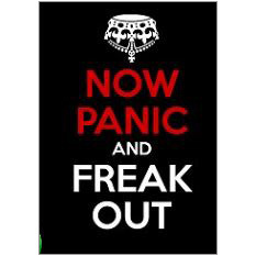 Keep Calm Panic Fridge Magnet