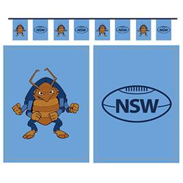 NSW flag bunting.