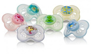 NUBY 2 PK CLASSIC OVAL PASTEL PACIFIER 0-6 MTHS