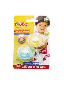 NUBY Prima Ortho Pacifier 6-18M 2pk