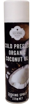 Nucifera Cold Pressed Organic Coconut Oil Cooking Spray 225g