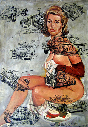 Nude with Fast Cars
