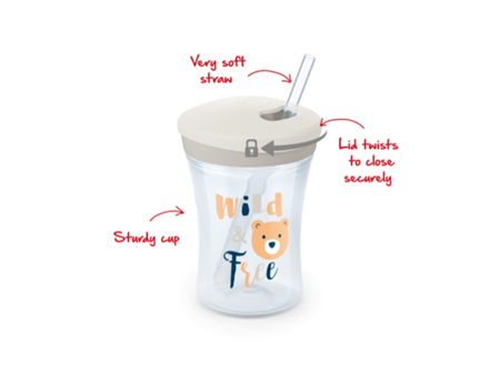 NUK Evol. Action Cup&Straw 230ml
