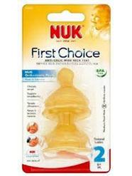 NUK FC+ Latex Teat Sz2 med hole 2pk