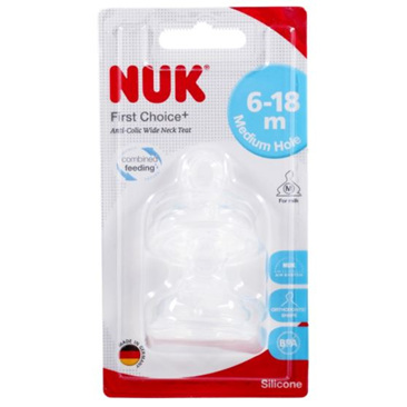 NUK FIRST CHOICE PLUS TEAT AGE 1 MEDIUM 2PK