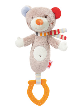 Nuk Forest Fun Comfort Teether Teddy - 3 Months+