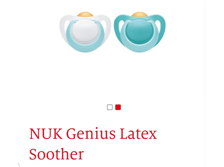NUK Genius Latex Soother 0-2m 2pk Asst