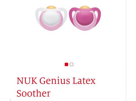 NUK Genius Latex Soother 0-6m 2pk