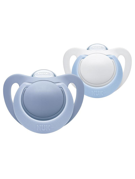 Nuk Genius Orthodontic Plus Silicone Soother 0-6months - 2pk