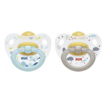 NUK HAPPY KIDS LATEX SOOTHERS 18-36 MONTHS 2 PACK