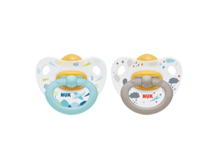 NUK Latex Soother size 1 colour 2pk