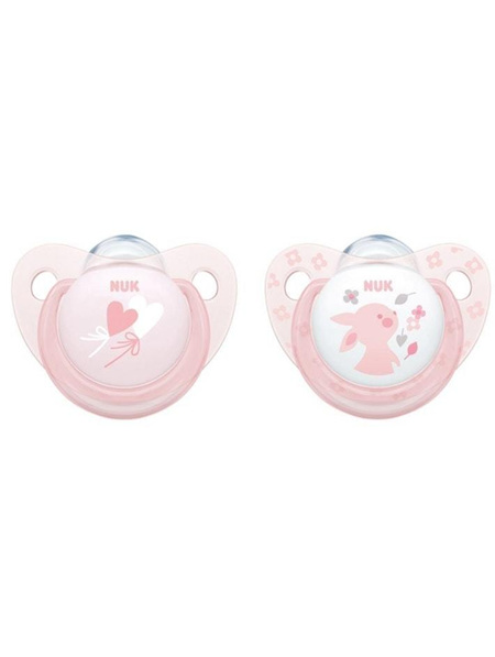 Nuk Orthodontic Silicone Soother 6-18months - 2 pk