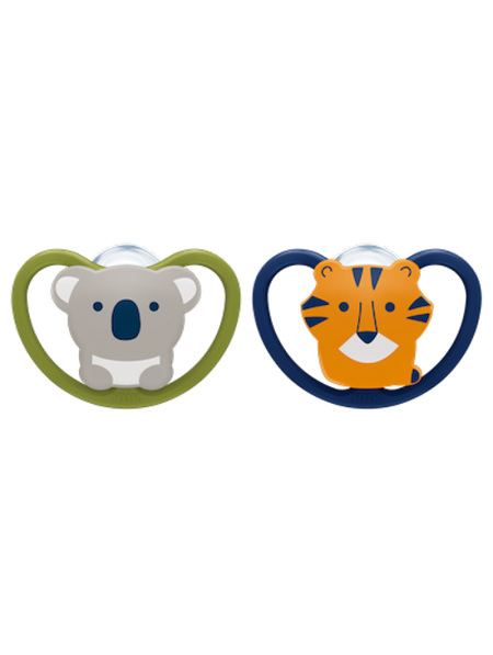 Nuk Space Silicone Soother 0-6months - 2pk