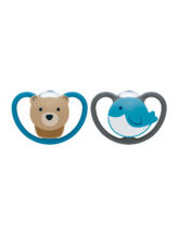 Nuk Space Silicone Soother 6-18 months - 2pk