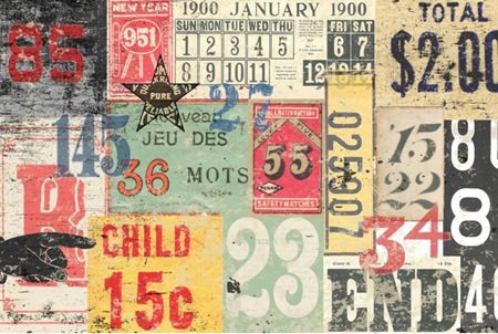 Numbered Decollage Royce Decoupage Paper
