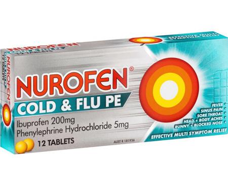 Nurofen Cold & Flu Tabs Pe 12's