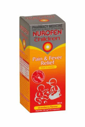 Nurofen for Children Pain and Fever Relief Strawberry 100ml