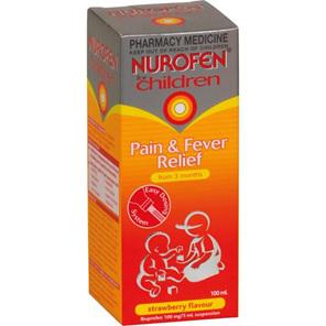 Nurofen For Children Suspension Liquid Strawberry 100ml