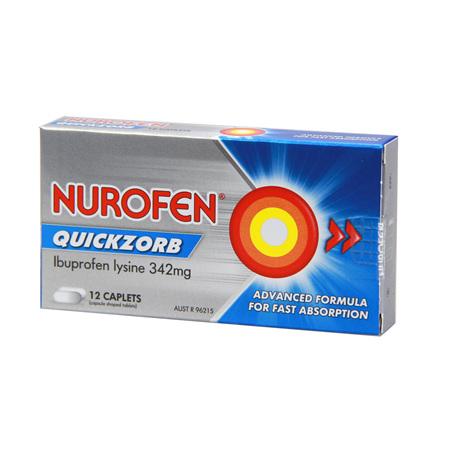Nurofen Quickzorb Caplets 12