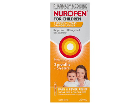 NUROFEN SUSP S/FREE CHILD ORANGE 200ML