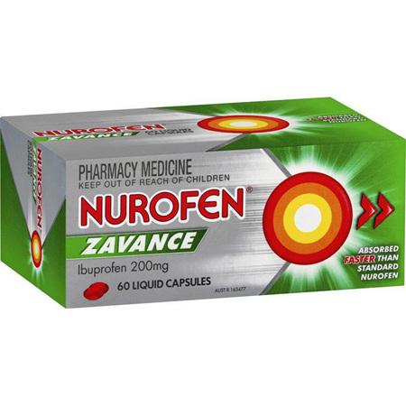 Nurofen Zavance Liquid Capsules 60 Pack