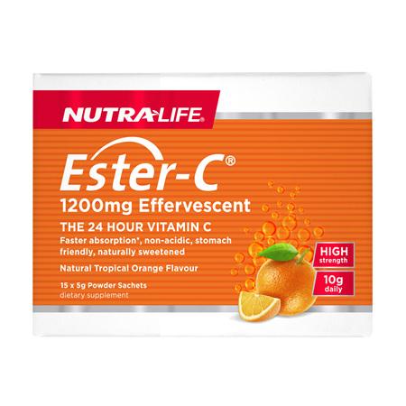 NUTRA-LIFE Ester C 1200mg Effervescent Sachets 15