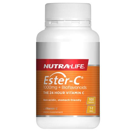NUTRA-LIFE Ester C +Bioflavanoid 1000mg 100