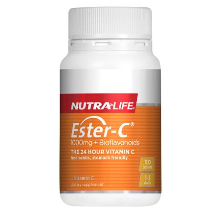 NUTRA-LIFE Ester C +Bioflavanoid 1000mg 50