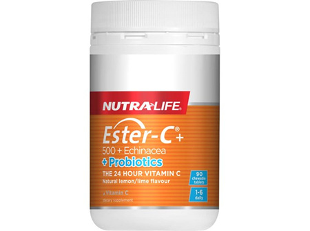 Nutra-Life Ester-C Echinacea + Probiotics Chewable Tablets 90s