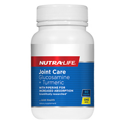 NUTRA-LIFE Joint Care Glucosamine + Turmeric 60cap