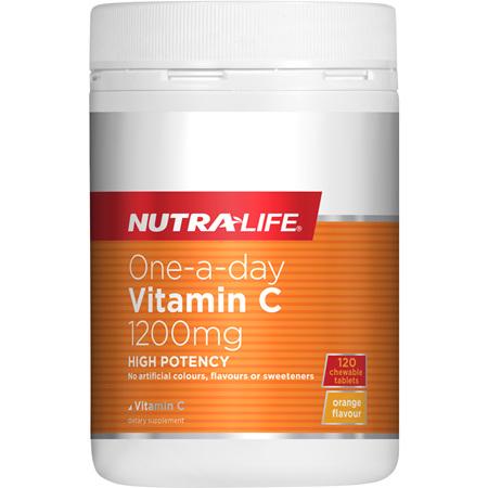 NUTRA-LIFE Vitamin C 1200mg Chews 120tabs